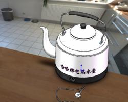家用电水壶(SolidWorks设计,step格式)