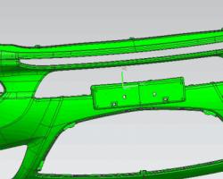 汽车保险杠(SolidWorks设计,x_t格式)