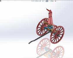 指南车(SolidWorks/UG设计,step/iges格式)