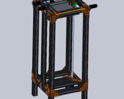 3D打印机(SolidWorks设计,提供step格式)