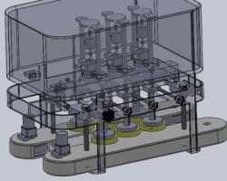 直列螺杆反驳机(SolidWorks设计,提供Sldprt/Sldasm格式)