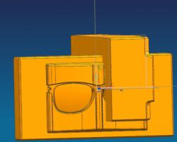 眼镜框模具设计 参考资料(UG设计,提供Prt格式)