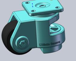 福马脚轮、弗马轮(SolidWorks设计,Sldprt格式)
