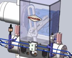 小排气量隔膜压缩机(SolidWorks设计,Sldprt/Sldasm格式)