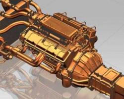 增压发动机(UG设计,提供Prt格式)