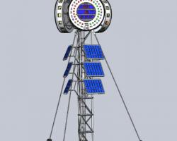 月亮时钟(SolidWorks设计,提供Sldprt格式)