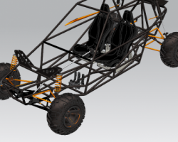 越野车框架(UG设计,提供Prt格式)