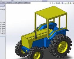 拖拉机(SolidWorks设计,提供Sldprt/Sldasm格式)