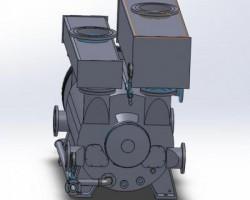 真空泵整体(SolidWorks设计,提供Sldprt格式)