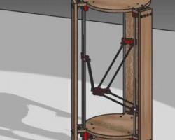 罗斯托克三角洲3D打印机核心组件(ProE设计,提供iges格式)