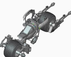 蝙蝠摩托车(ProE设计,提供Prt格式)