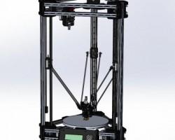 柯塞尔三角洲3D打印机(SolidWorks设计,提供step/x_t格式)