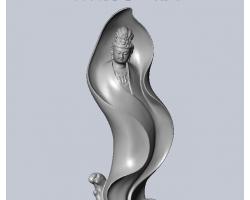 木雕观音(SolidWorks设计,提供stl格式)