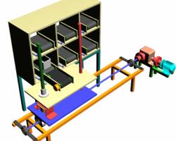 自动化仓库储存系统(SolidWorks/ProE设计,提供step/iges/dwg格式)