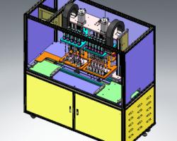 多头螺丝机、自动化LED面板螺丝锁付机(SolidWorks设计,Sldprt/Sldasm格式)