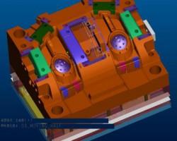 复杂的车灯模具(ProE设计,提供step格式)