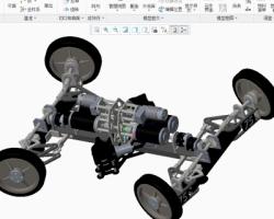 阿克曼汽车转向传动系统(ProE/Creo.Elements设计,提供Asm/Prt格式)