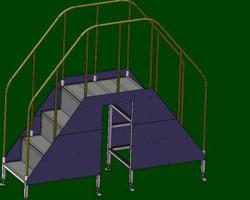 工厂FA自动化灵巧过梯(SolidWorks设计,提供Sldprt/Sldasm格式)