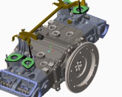 阿尔法罗密欧汽车发动机(ProE/Creo.Elements设计,提供Asm/Prt格式)