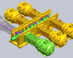 艾瑞尔六缸压缩机(SolidWorks设计,提供Sldprt/Sldasm格式)