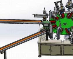 眼镜盒装配机(非标自动化组装机)(SolidWorks设计,提供Sldprt/Sldasm格式)
