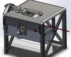 小型型材切断机(SolidWorks设计,提供Sldprt格式)
