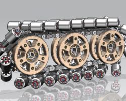 Mecanum轮移动机器人(UG设计,提供Prt格式)