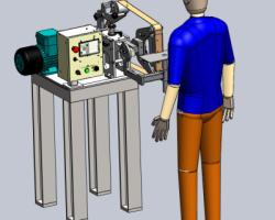 电动砂光机:V095宽带砂光机(SolidWorks设计,提供Sldprt/Sldasm格式)