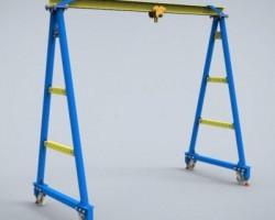 葫芦门式起重机(SolidWorks设计,提供Sldprt/Sldasm格式)