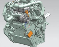 柴油发动机全3D!(SolidWorks/UG设计,x_t格式)