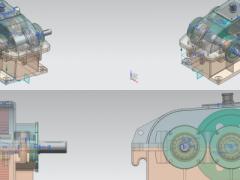二级齿轮减速器及其运动仿真 装配,爆炸动画(UG设计,Prt格式)