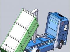 垃圾压缩车(SolidWorks设计,提供Sldprt/Sldasm格式)