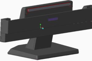 台面支撑支架(ProE/Creo设计,提供Asm/Prt格式)