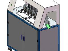 弹簧圈自动生产机成型设备(SolidWorks/ProE设计,提供step格式)